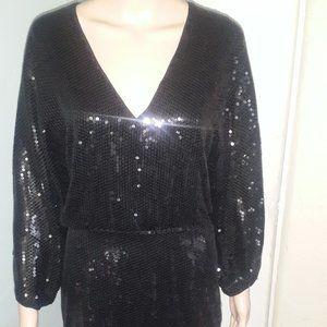 GORGEOUS H&M Black SEQUIN Dress